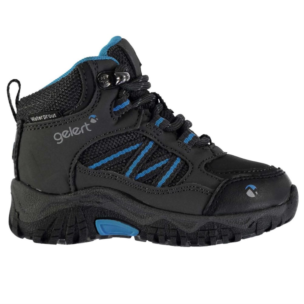 GELERT Toddler Unisex Horizon Mid Waterproof Hiking Boots - CHARCOAL/BLUE