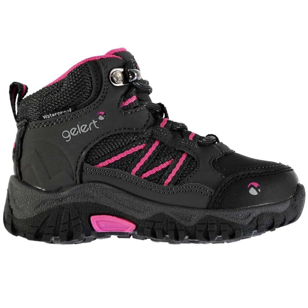 GELERT Toddler Unisex Horizon Mid Waterproof Hiking Boots - CHARCOAL/PINK