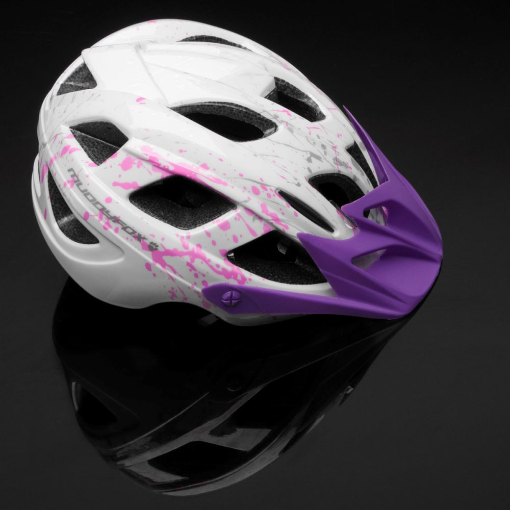 MUDDYFOX Kids' Spark Bike Helmet - WHITE/PURPLE