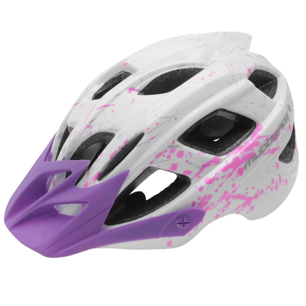 MUDDYFOX Kids' Spark Bike Helmet - WHITE/PURPLE