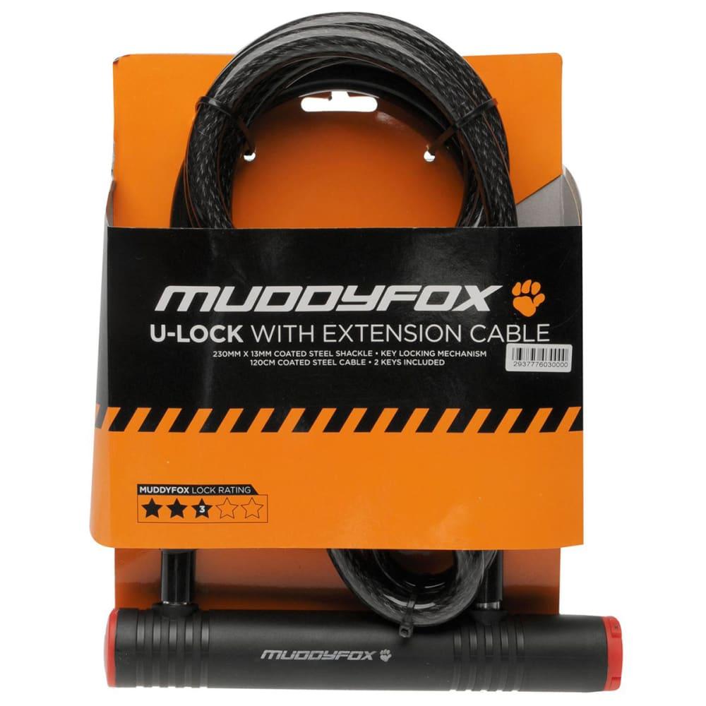 MUDDYFOX Bike Extension U-Lock - BLACK