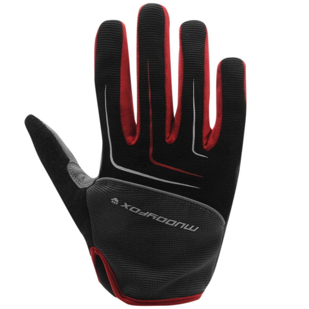 MUDDYFOX MTB Cycling Gloves - BLACK/GREY/RED