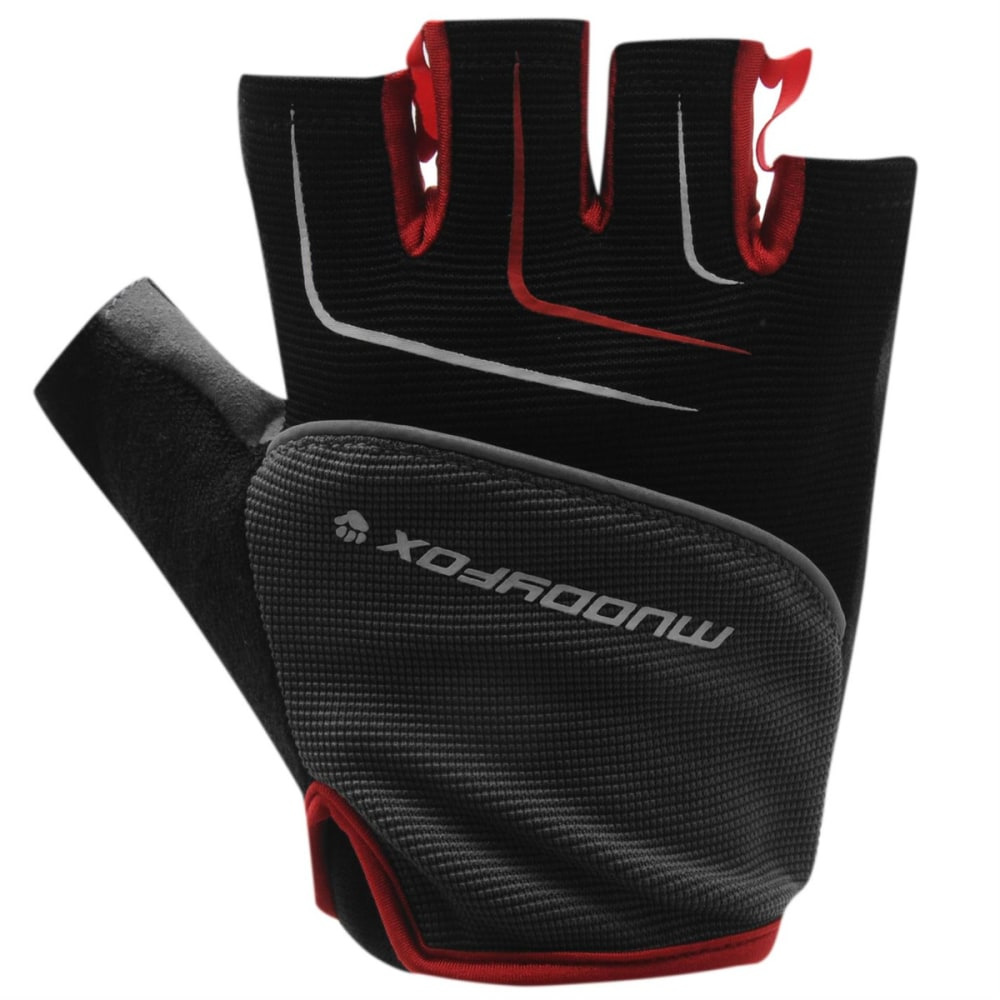 MUDDYFOX MTB Mitt Cycle Gloves - BLACK/GREY/RED