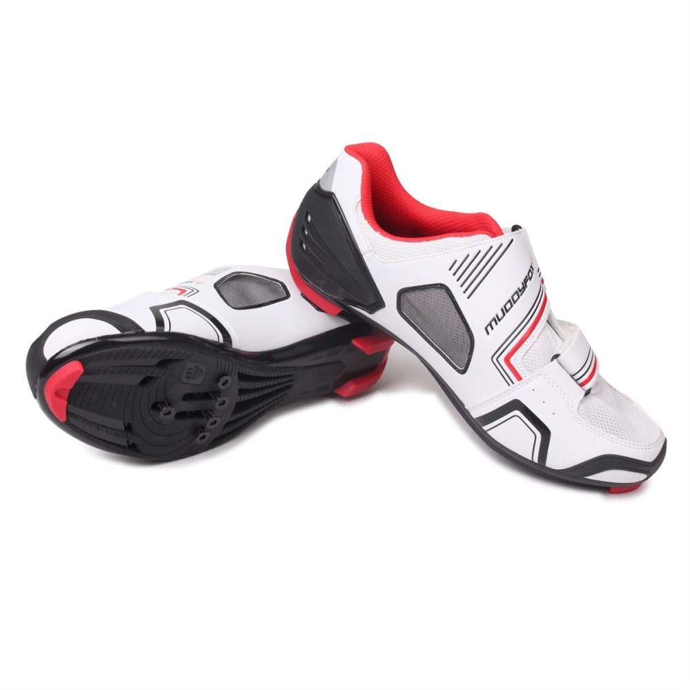 MUDDYFOX Men's RBS100 Cycling Shoes - WHITE/BLACK/RED