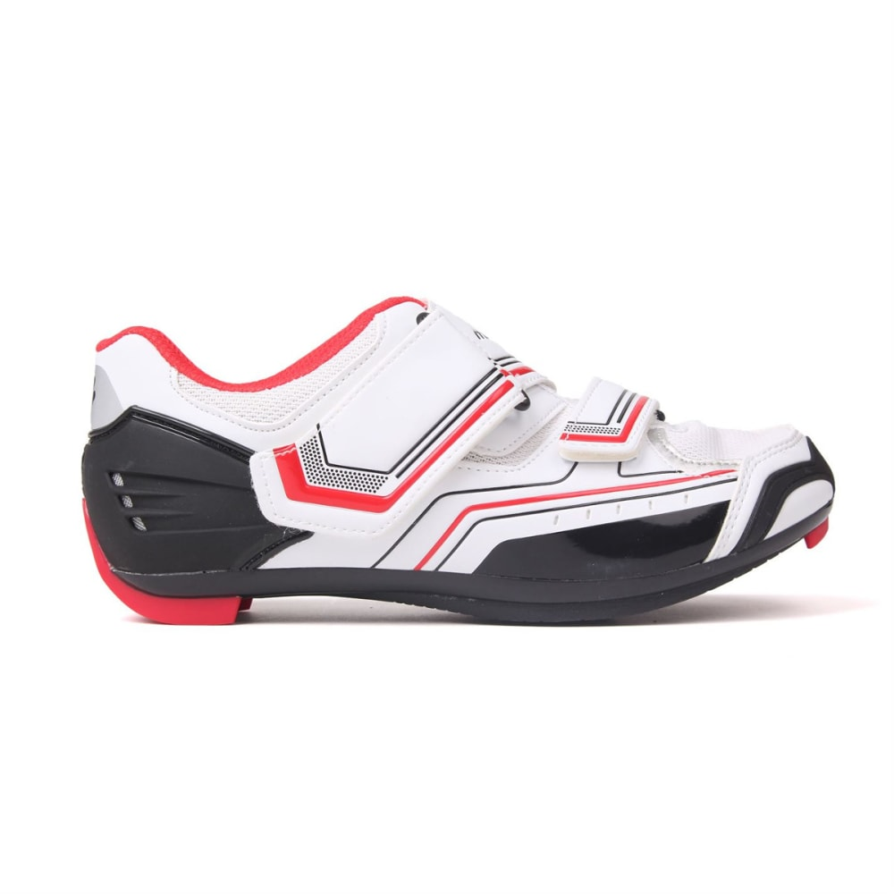 MUDDYFOX Kids' RBS100 Cycling Shoes - WHITE/BLACK/RED