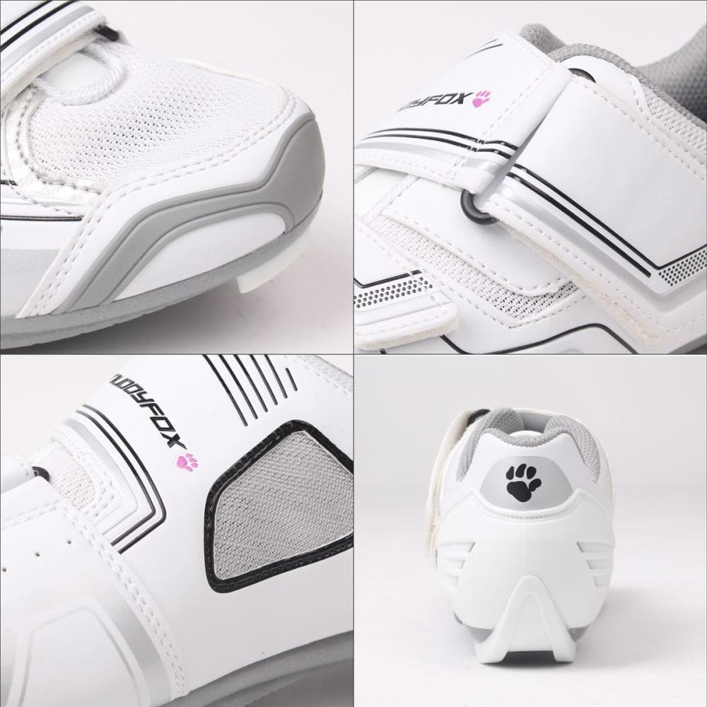 MUDDYFOX Women's RBS100 Cycling Shoes - WHITE/SILVER