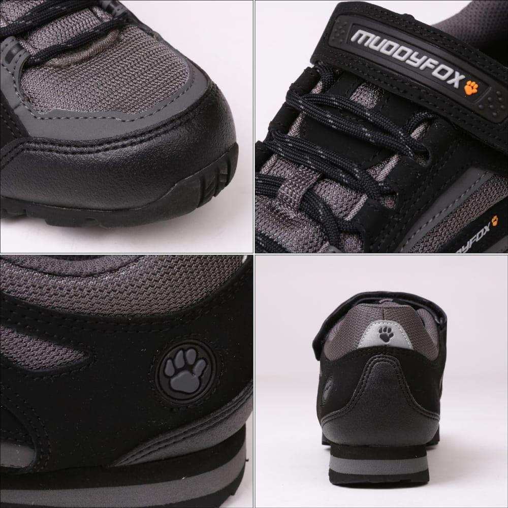 MUDDYFOX Kids' TOUR 100 Low Cycling Shoes - BLACK/CHARCOAL