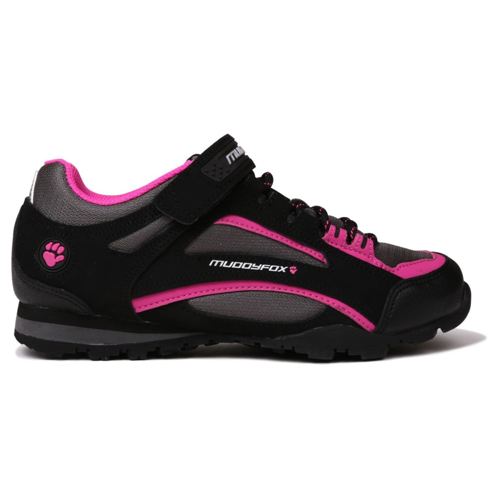 MUDDYFOX Women's TOUR 100 Low Cycling Shoes - Black/Char/Pink