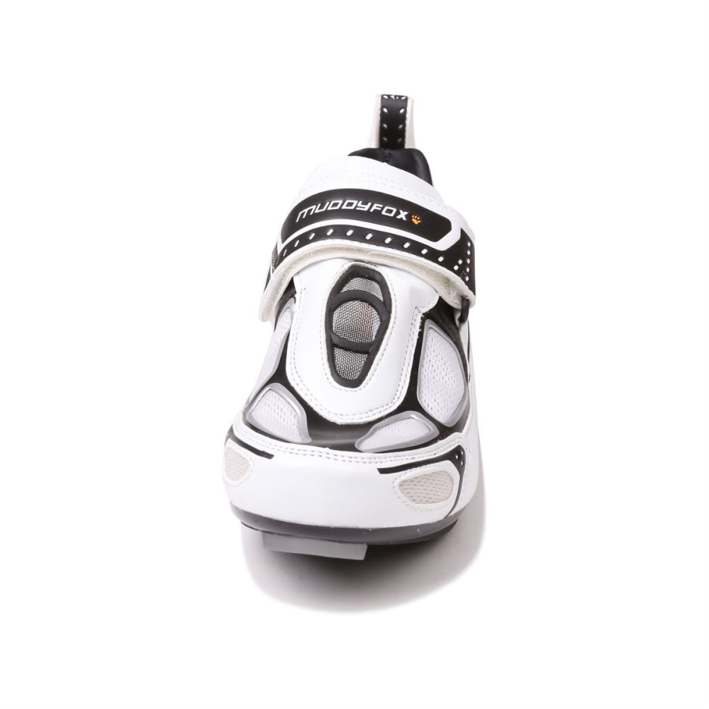 MUDDYFOX Kids' TRI100 Cycling Shoes - WHITE/BLACK