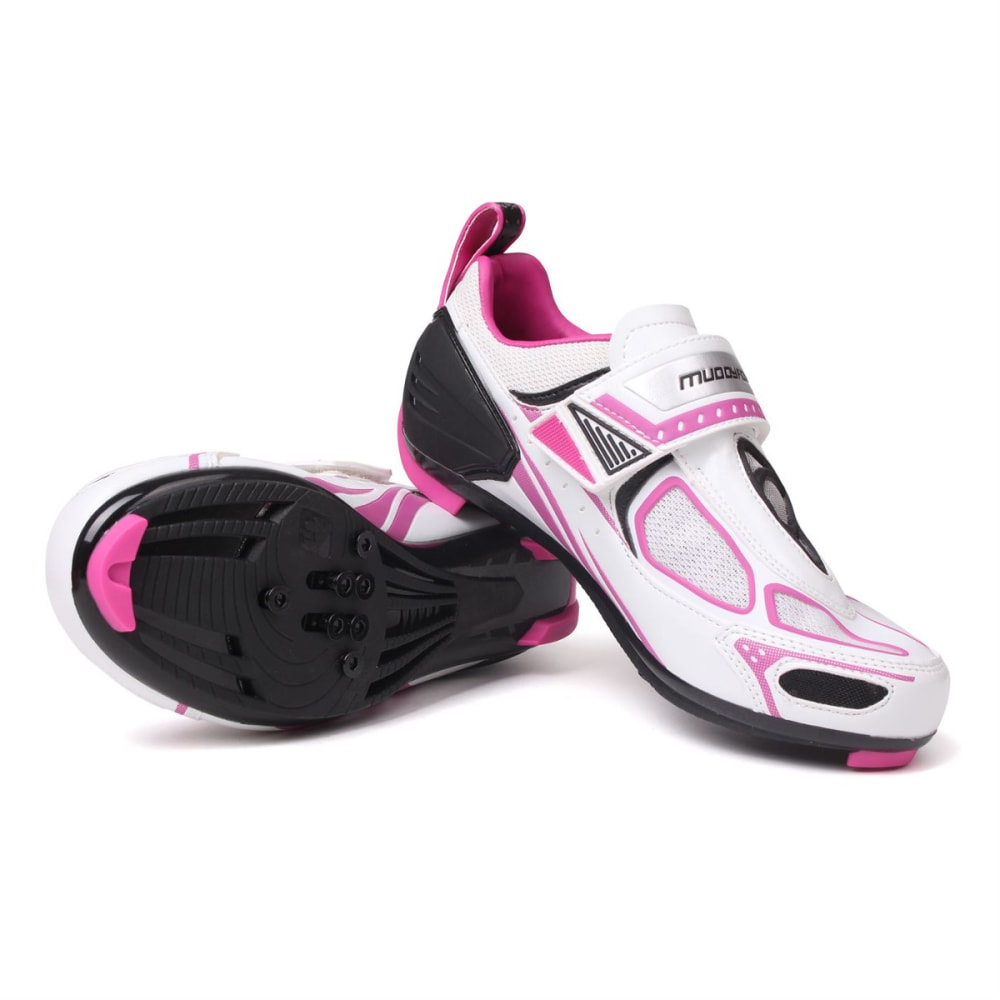 MUDDYFOX Women's TRI100 Cycling Shoes - White/Blk/Pink