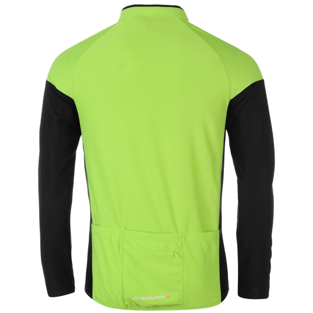 MUDDYFOX Men's Cycling Long-Sleeve Jersey - GREEN/BLACK