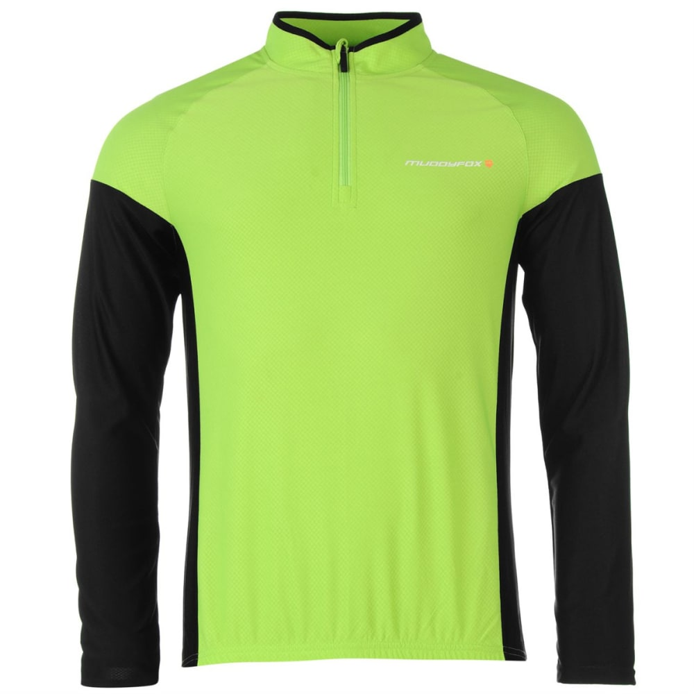 MUDDYFOX Men's Cycling Long-Sleeve Jersey - GREEN/BLACK
