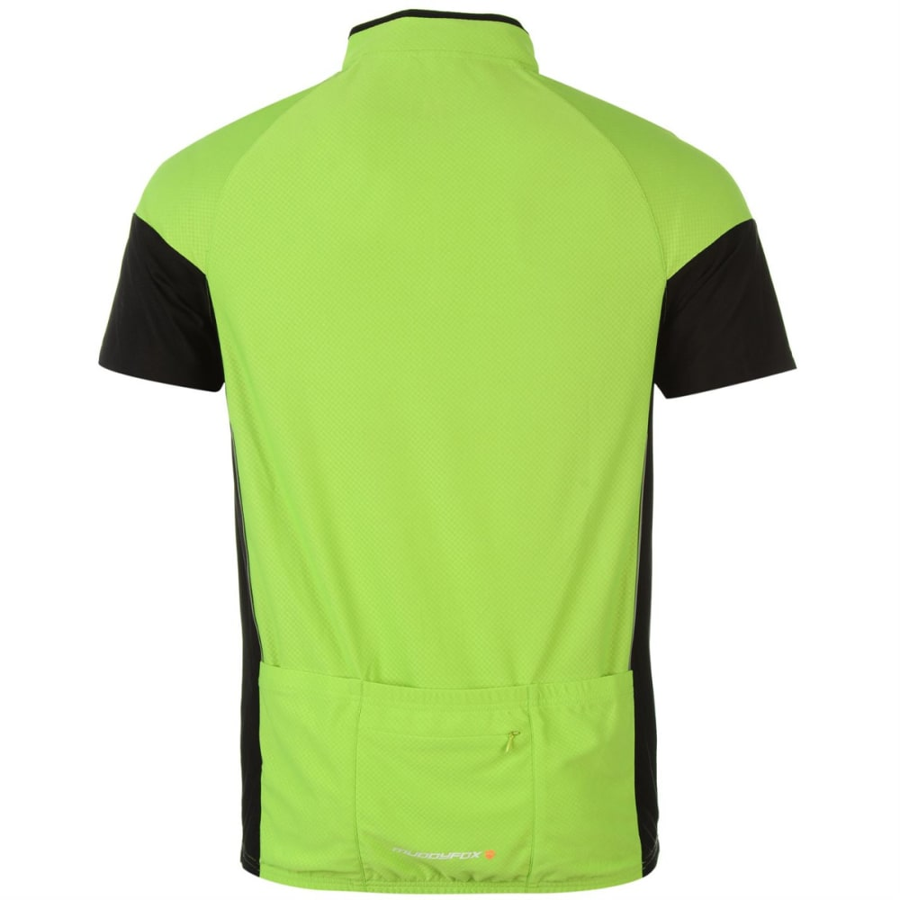MUDDYFOX Kids' Cycling Short-Sleeve Jersey - GREEN/BLACK