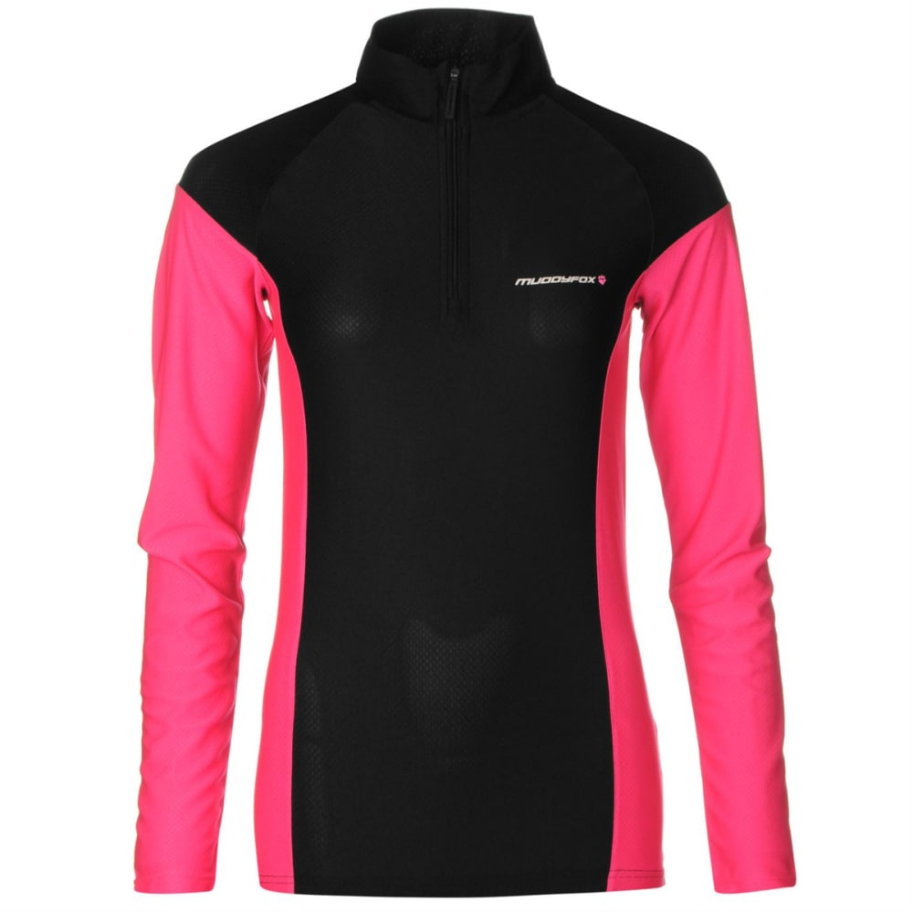 MUDDYFOX Women's Cycling Long-Sleeve Jersey - BLACK/PINK