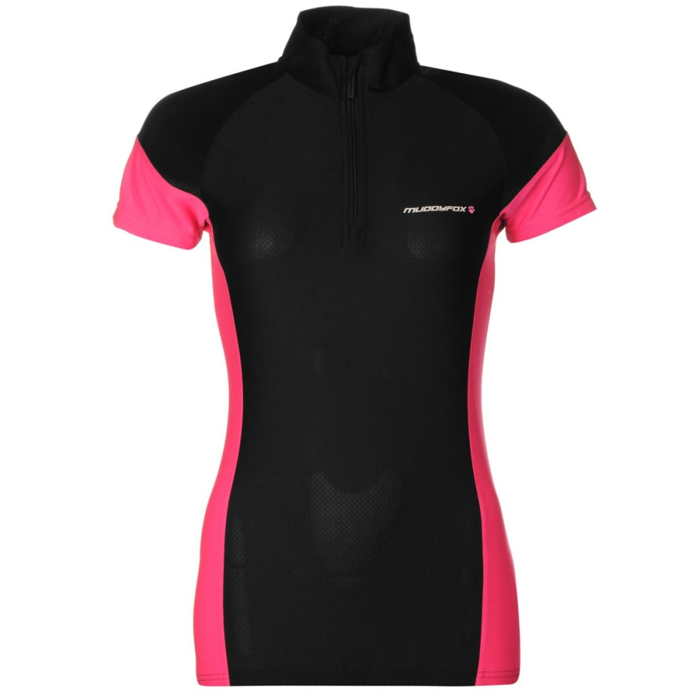 MUDDYFOX Women's Cycling Short-Sleeve Jersey - BLACK/PINK