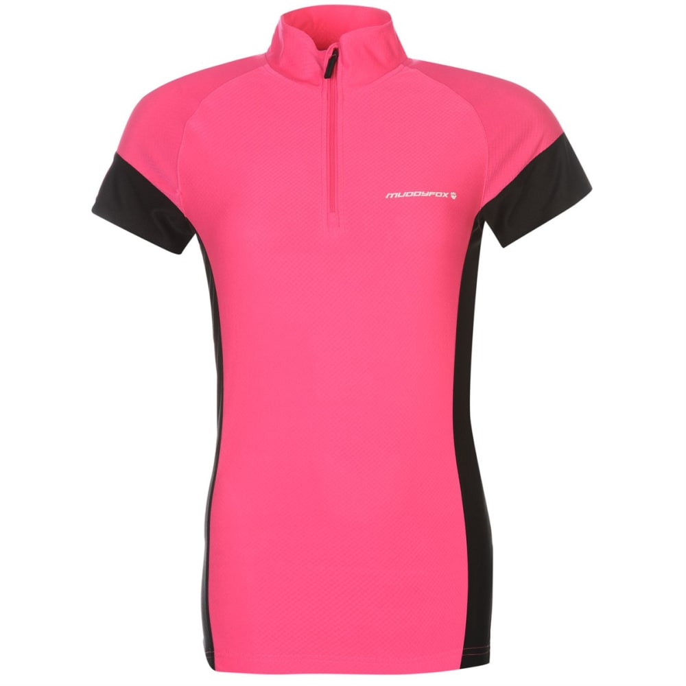 MUDDYFOX Women's Cycling Short-Sleeve Jersey - PINK/BLACK