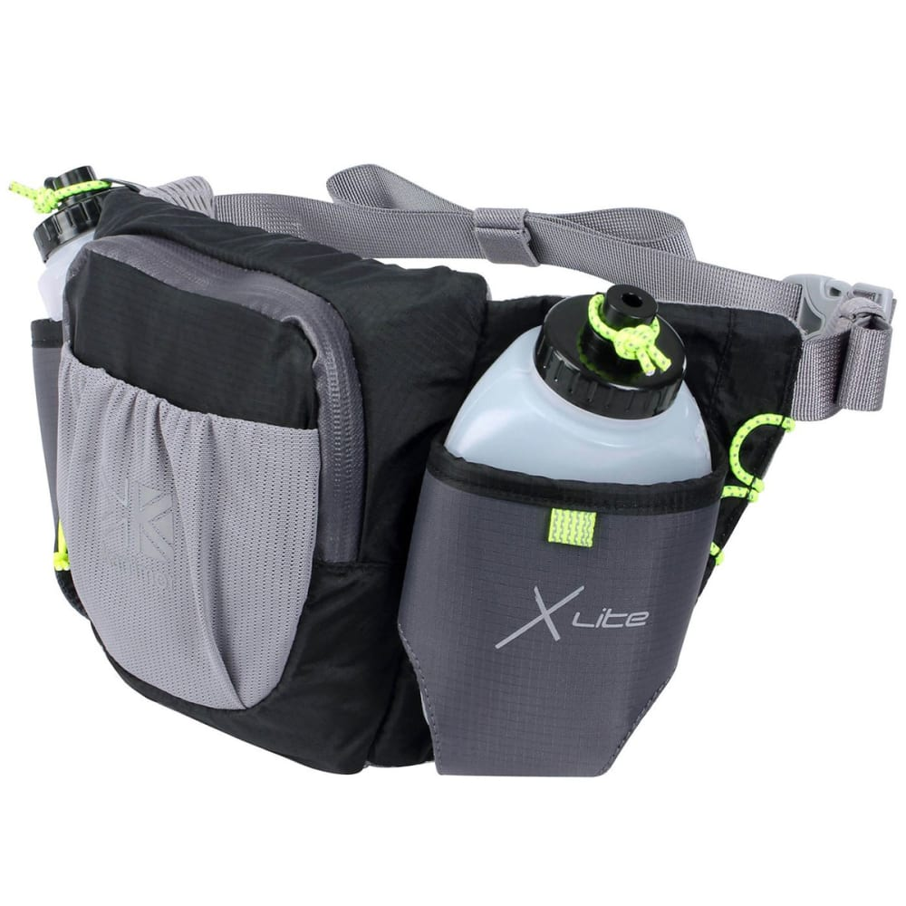 KARRIMOR X Lite Duo Running Belt and Bottle Set - BLACK