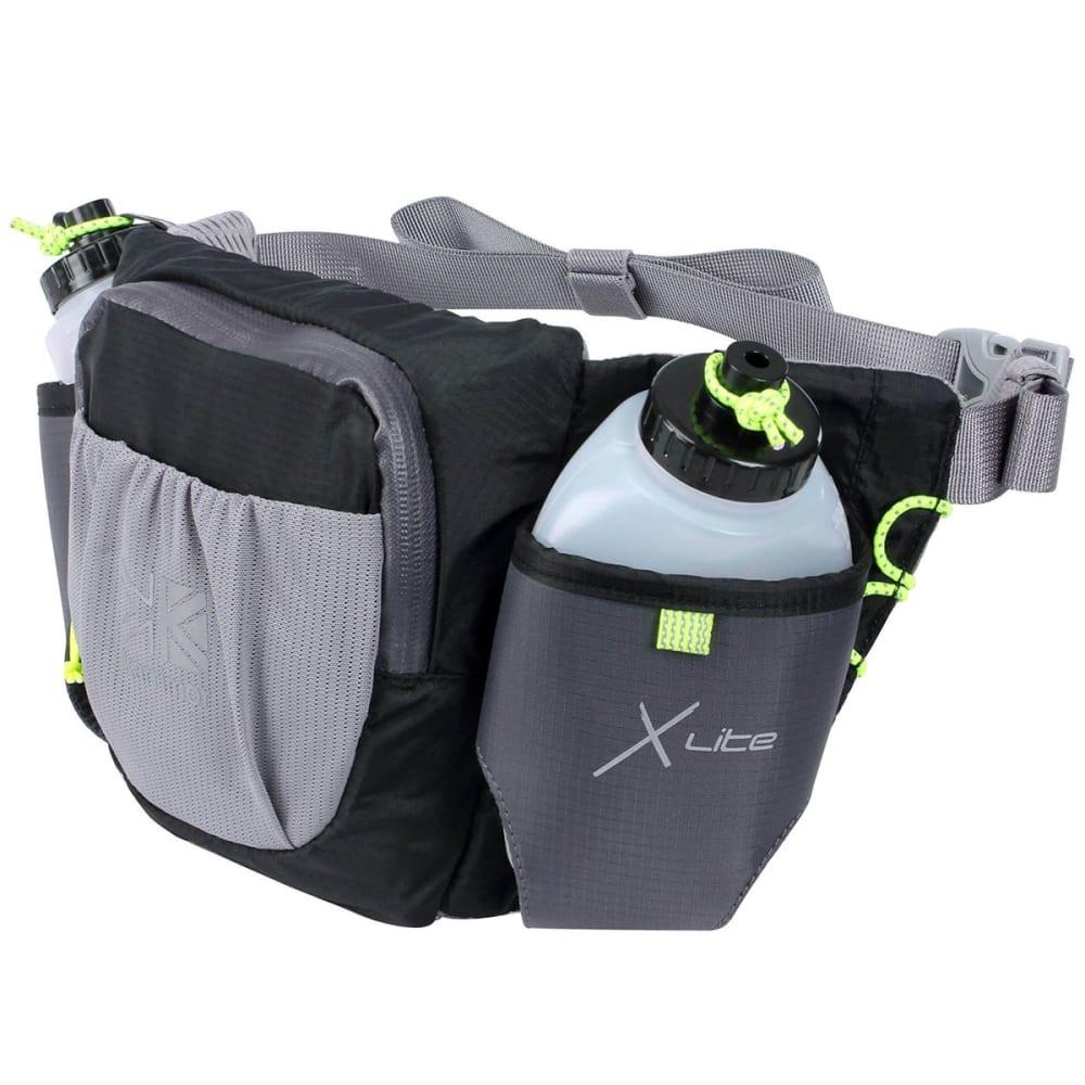 KARRIMOR X Lite Duo Running Belt and Bottle Set - BLACK