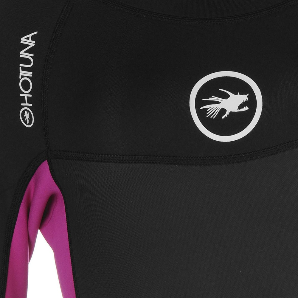 HOT TUNA Women's 2.5mm Full Wetsuit - Black/Acid Pink