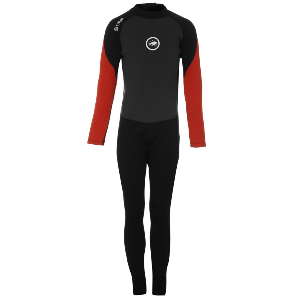 HOT TUNA Boys' 2.5mm Full Wetsuit - BLACK/RED