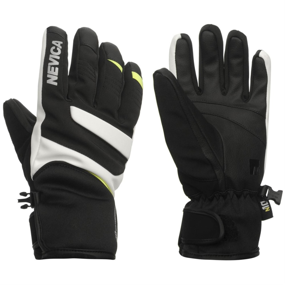 NEVICA Kids' Vail Ski Gloves - BLACK/GREEN