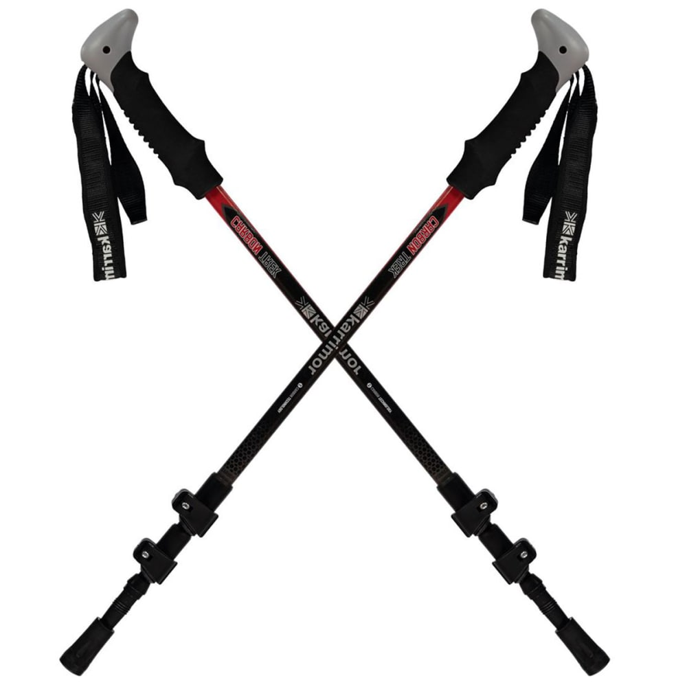 KARRIMOR Carbon Hiking Poles - BLACK/RED