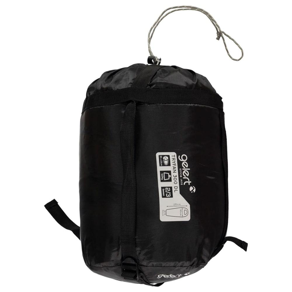 GELERT Tryfan 300 Mummy Sleeping Bag - Black/Ochre