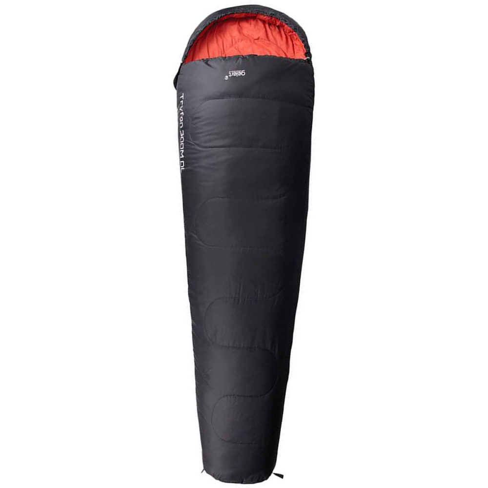 GELERT Tryfan 300 Mummy Sleeping Bag - Black/Ochre