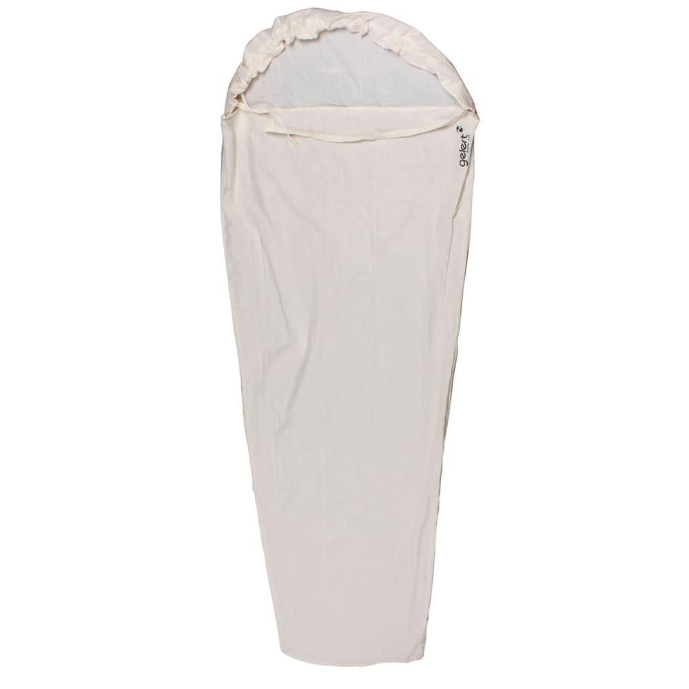 GELERT Single Sleeping Bag Liner - WHITE