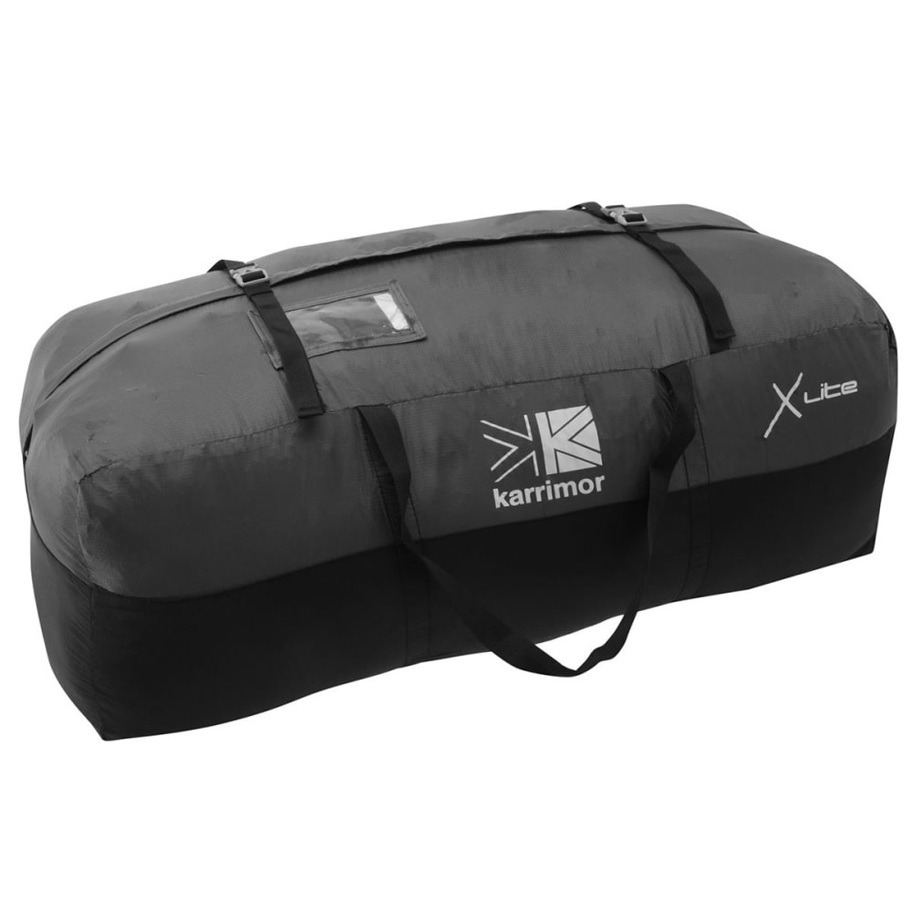 KARRIMOR Packable Duffle Bag - BLACK/CHARCOAL