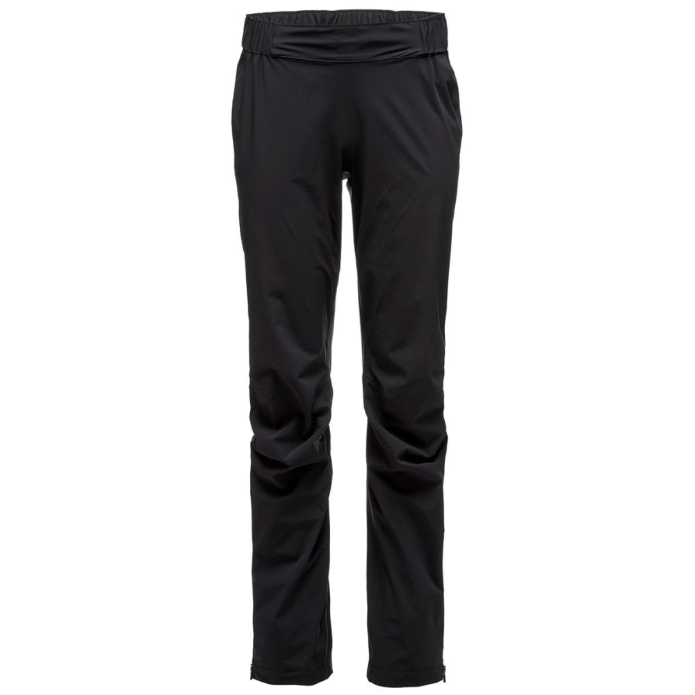 BLACK DIAMOND Women's StormLine Stretch Rain Pants - BLACK