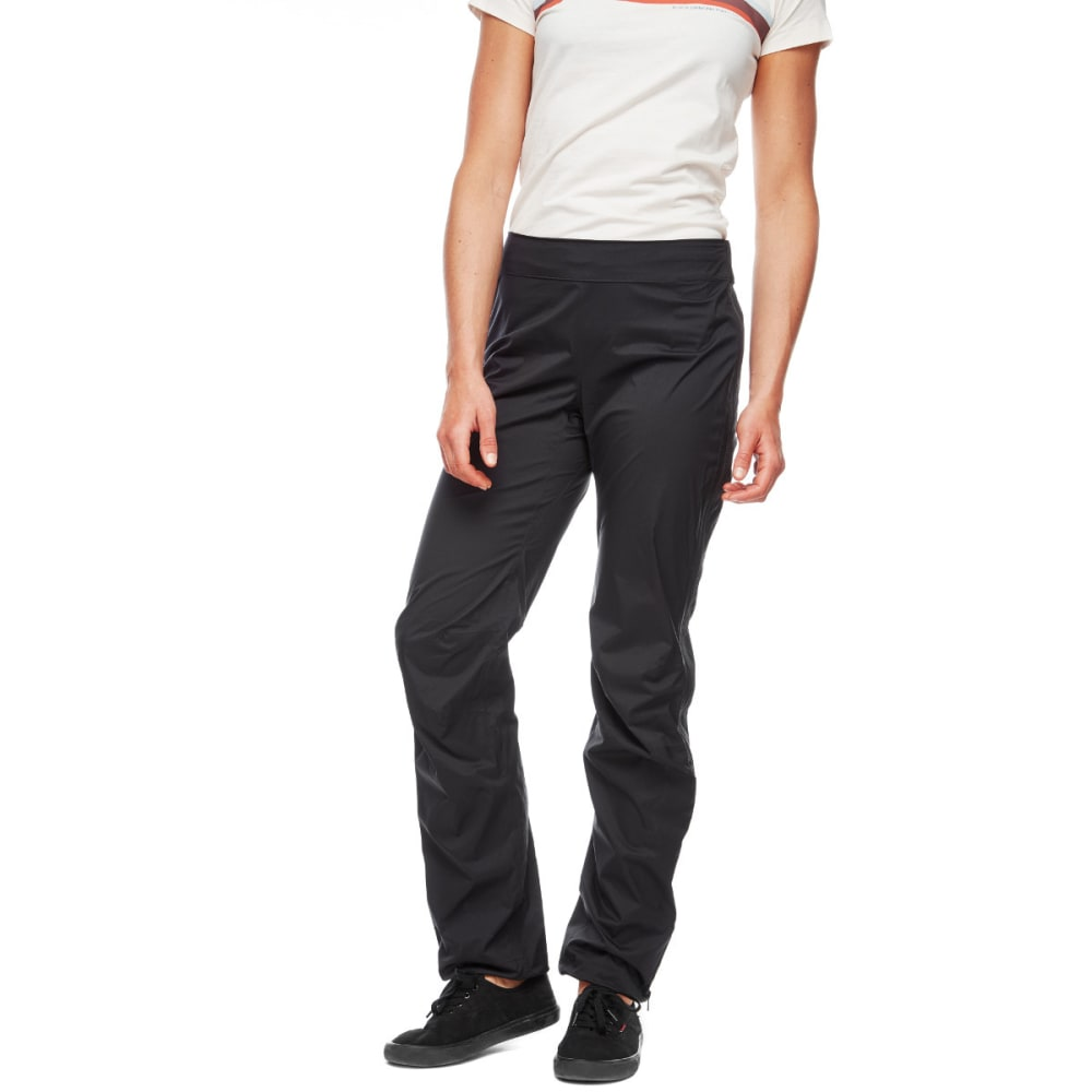 BLACK DIAMOND Women's StormLine Stretch Full-Zip Rain Pants - BLACK