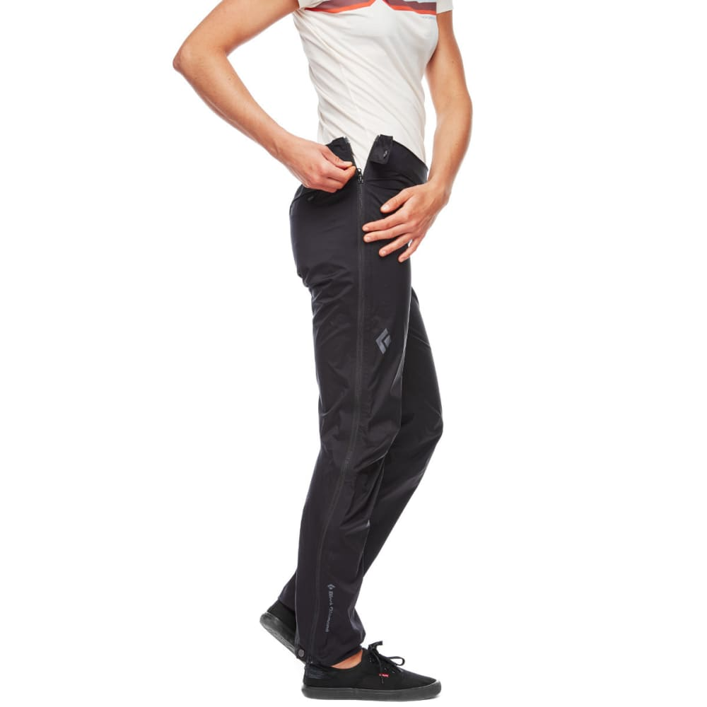 BLACK DIAMOND Women's StormLine Stretch Full-Zip Rain Pants - BLACK