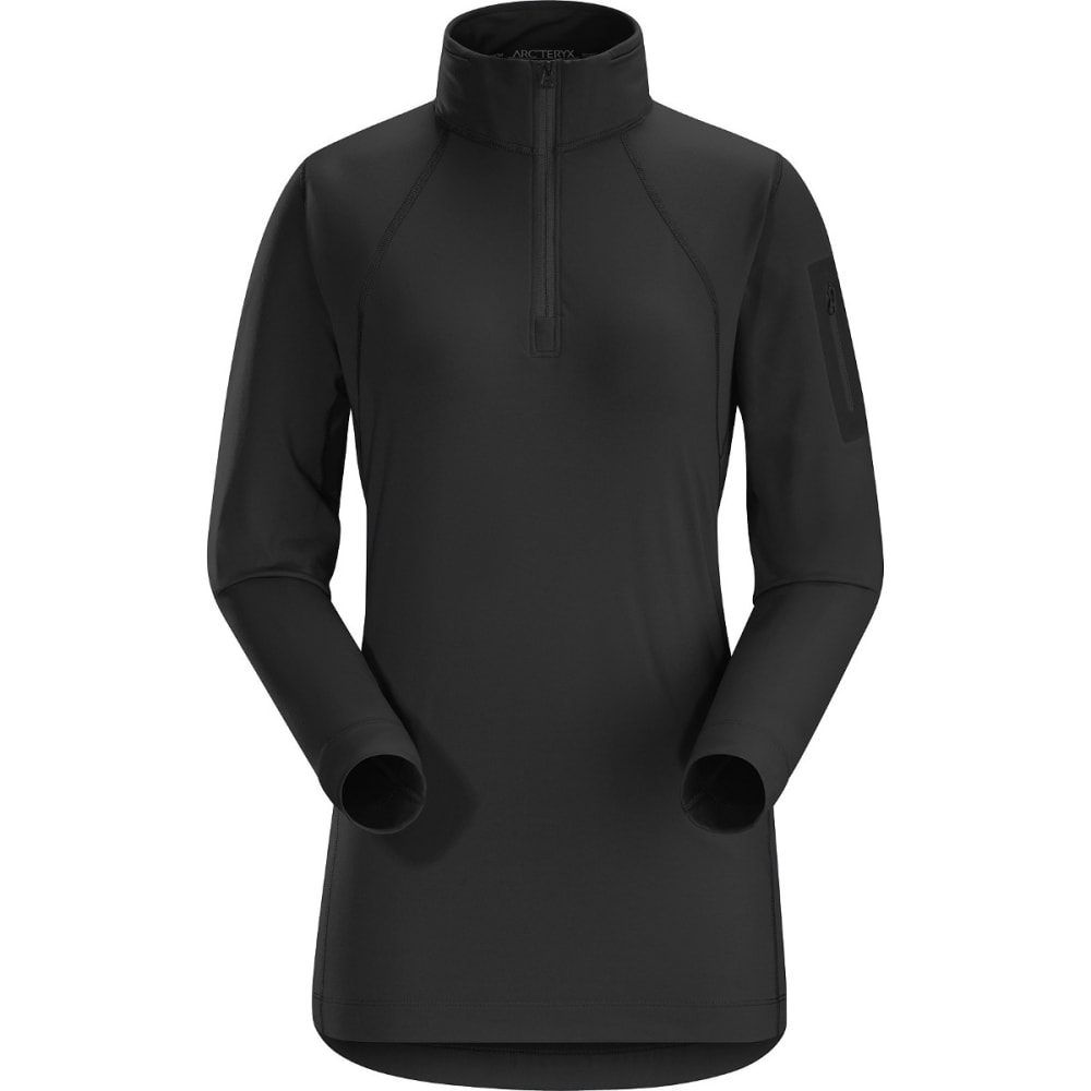 ARC'TERYX Women's Rho LT Zip Neck - BLACK