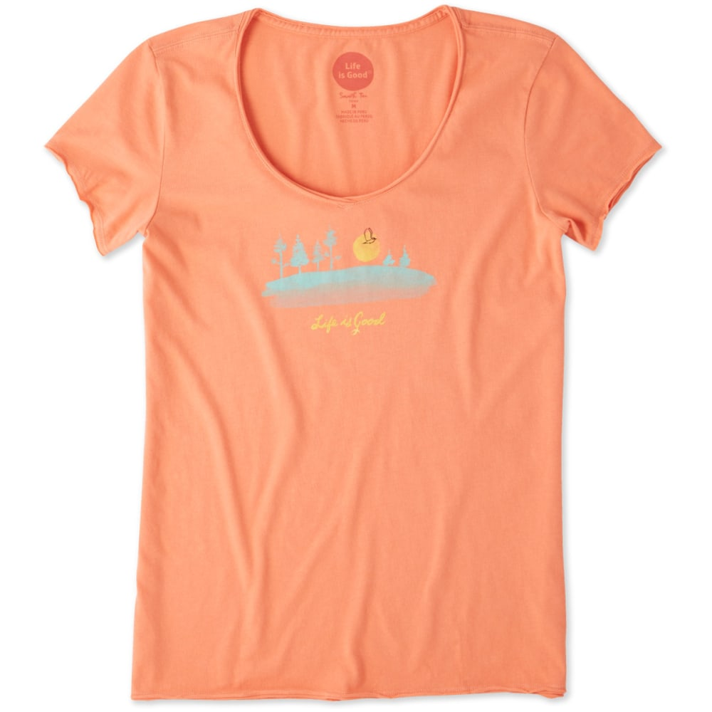 LIFE IS GOOD Women's Free Bird Landscape Smooth Tee L