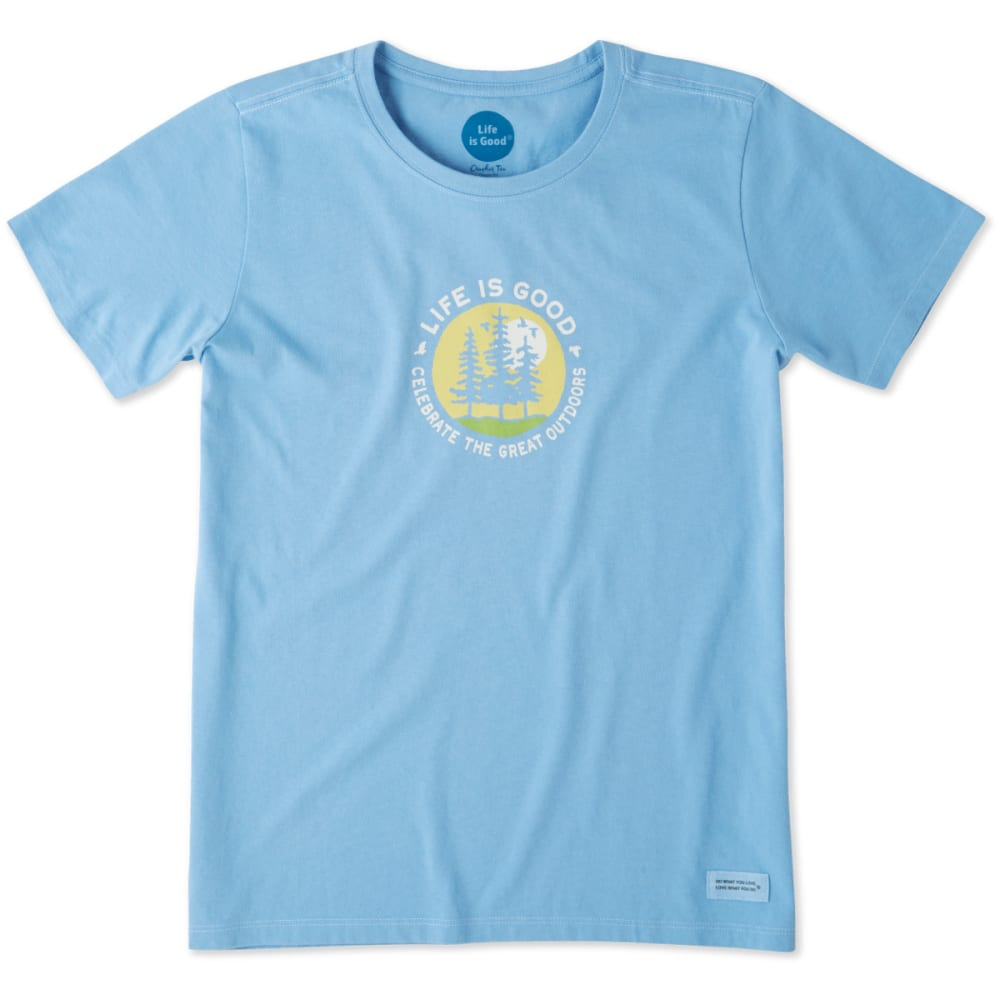 LIFE IS GOOD Women's The Great Outdoor Crusher Tee - POWDER BLUE