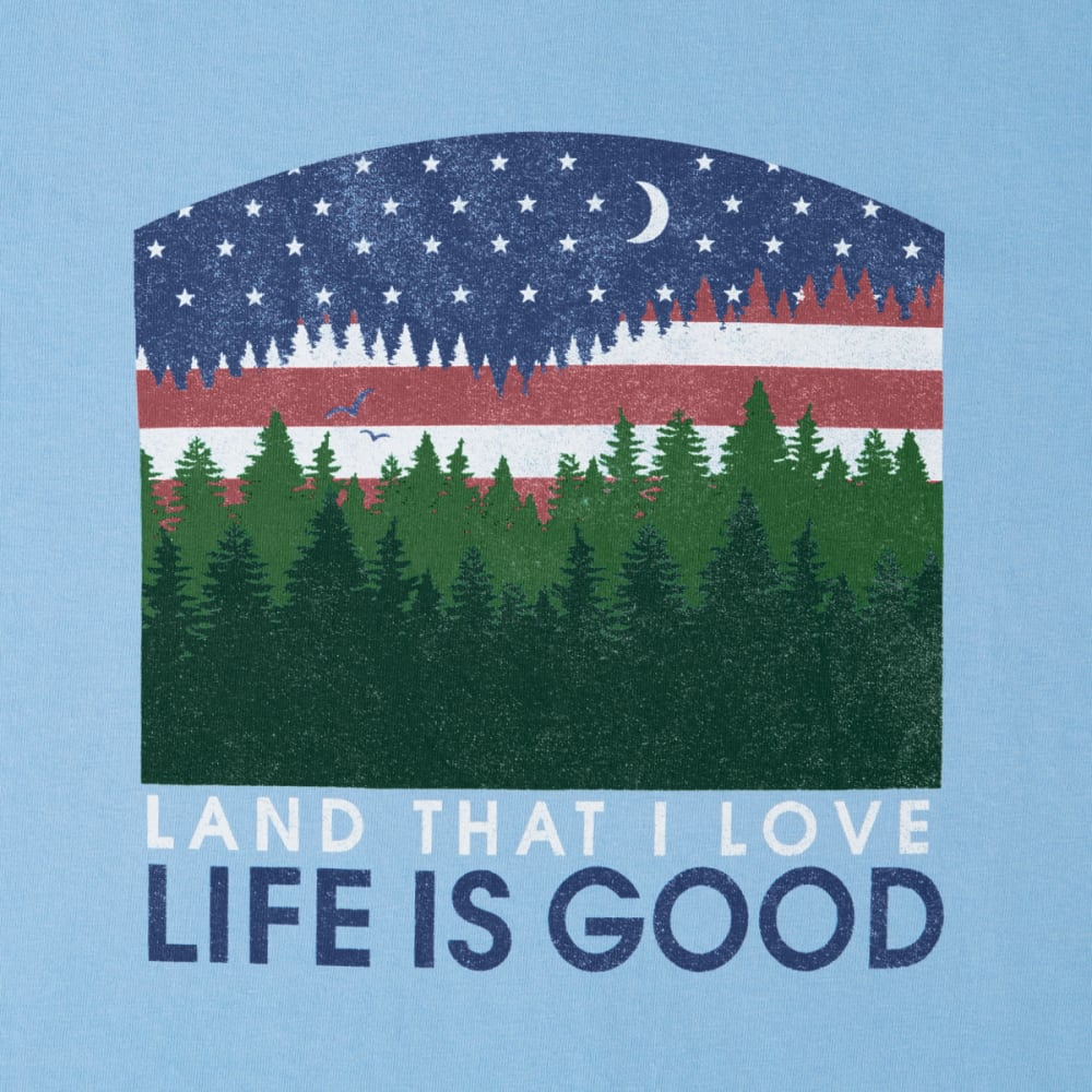 LIFE IS GOOD Women's Land That I Love Crusher Tee - POWDER BLUE