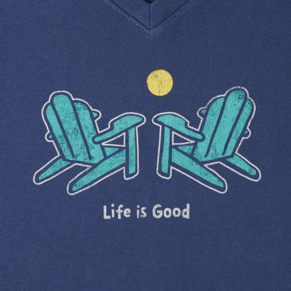 LIFE IS GOOD Women's Classic Adirondack Crusher Vee Tee - DARKEST BLUE