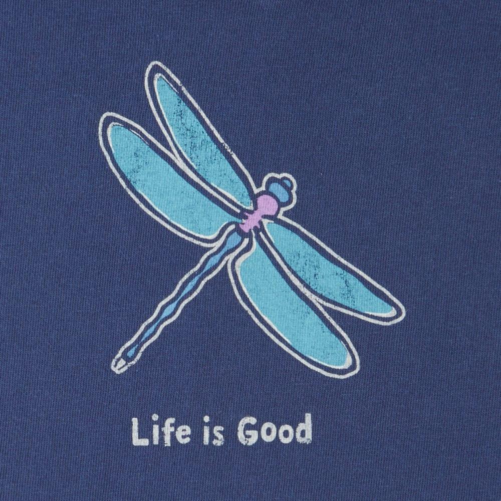 LIFE IS GOOD Women's Classic Dragonfly Crusher Vee Tee - DARKEST BLUE