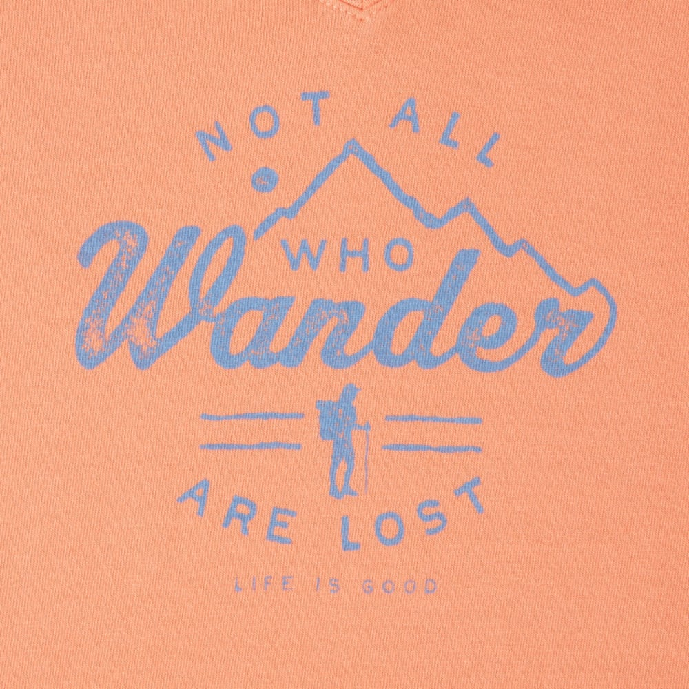 LIFE IS GOOD Women's Wander Hike Crusher Vee Tee - FRESH CORAL