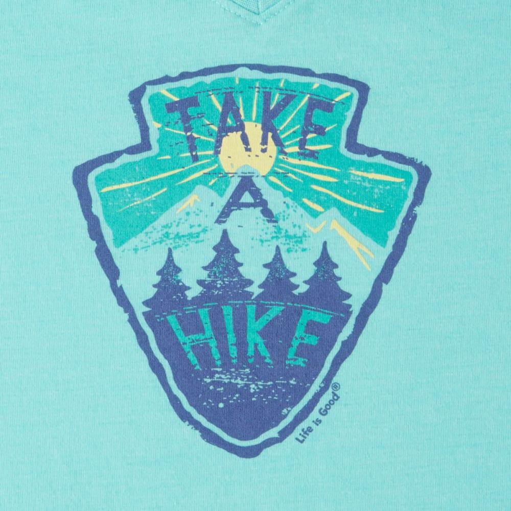 LIFE IS GOOD Women's Take a Hike Cool Vee Tee - AQUA