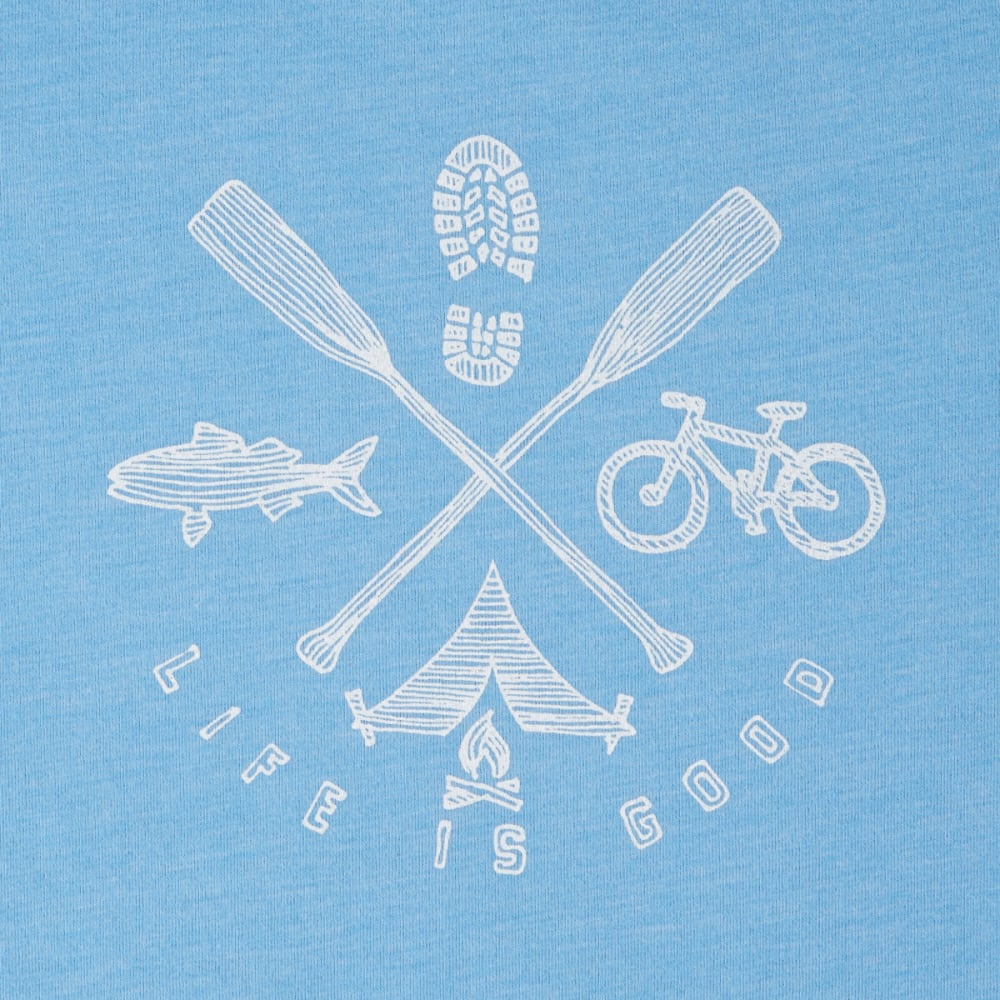 LIFE IS GOOD Women's Outdoor Action Cool Tee - POWDER BLUE