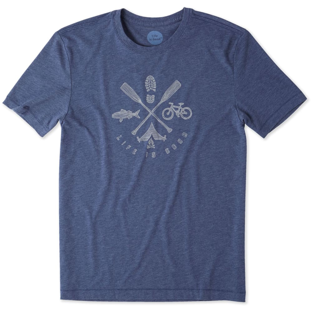 LIFE IS GOOD Men's Outdoor Action Cool Tee - DARKEST BLUE