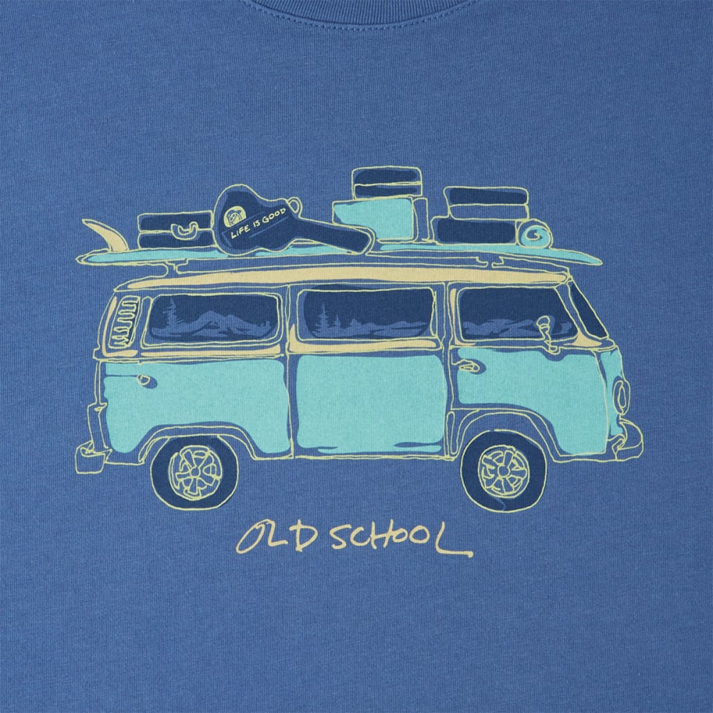 LIFE IS GOOD Men's Old School Van Smooth Tee - VINTAGE BLUE