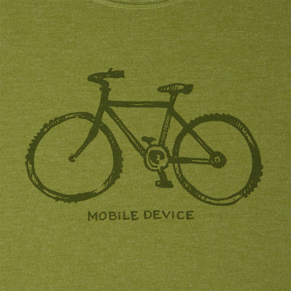 LIFE IS GOOD Men's Mobile Device Crusher Tee - HEATHER TREE GREEN