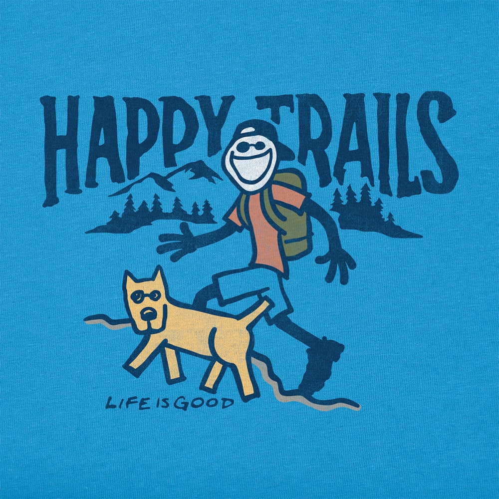LIFE IS GOOD Men's Happy Trails Crusher Tee - MARINA BLUE