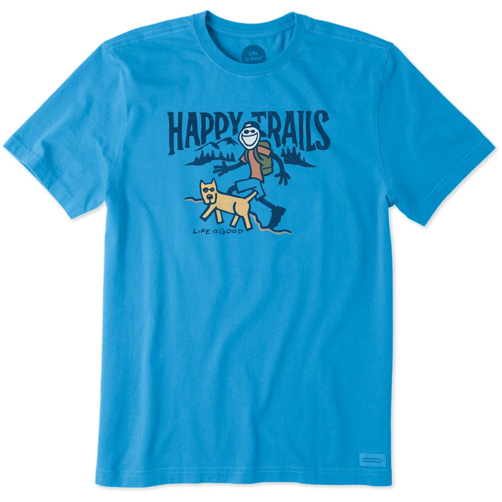LIFE IS GOOD Men's Happy Trails Crusher Tee - MARINA BLUE