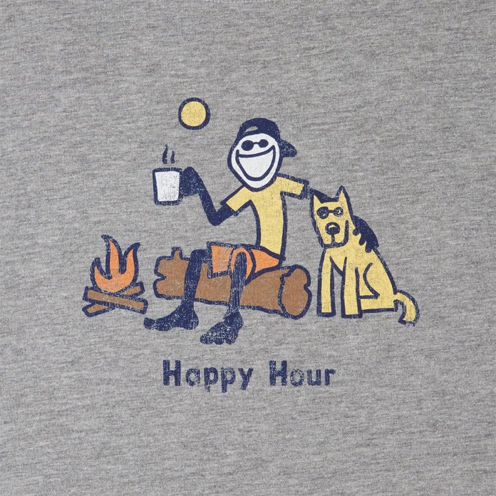 LIFE IS GOOD Men's Classic Happy Hour Crusher Tee - HEATHER GRAY