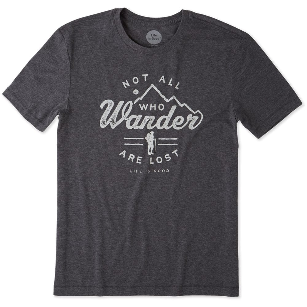 LIFE IS GOOD Men's Wander Hike Cool Tee - NIGHT BLACK