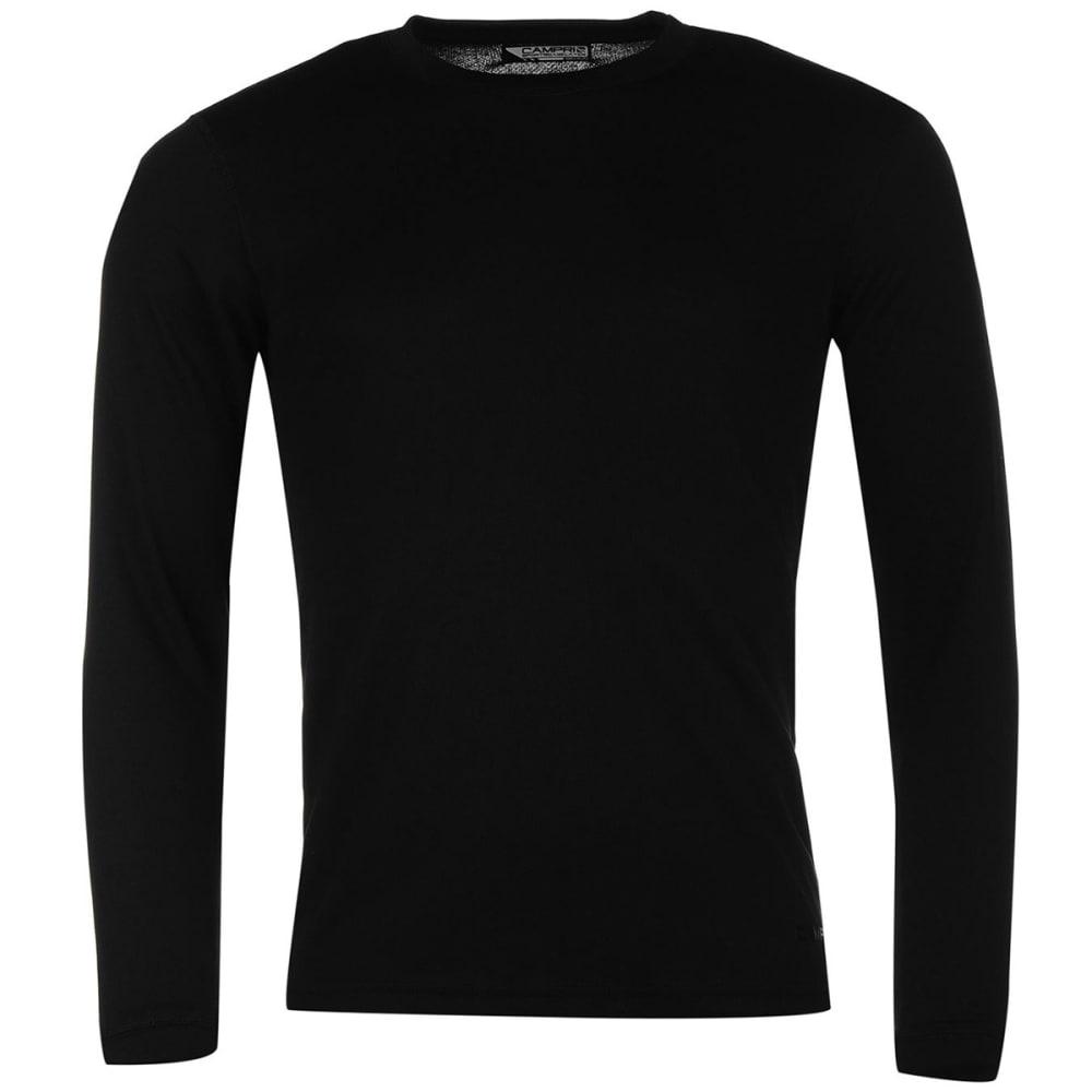 CAMPRI Men's Thermal Baselayer Top - BLACK